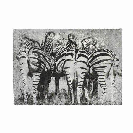 Dækkeserviet med zebraer