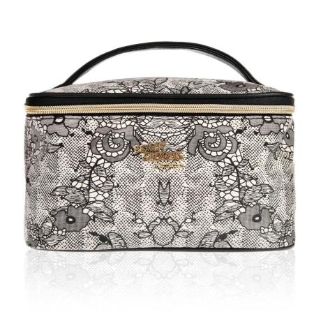 Dame toilettaske - beauty box gold