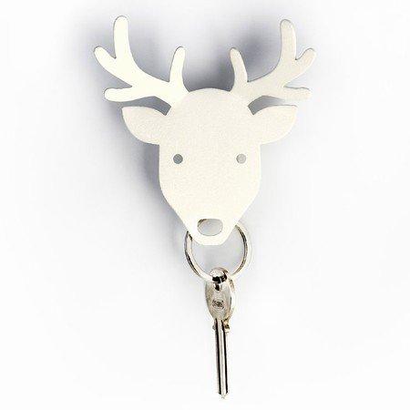 Qualy nøgleholder - hvid deer