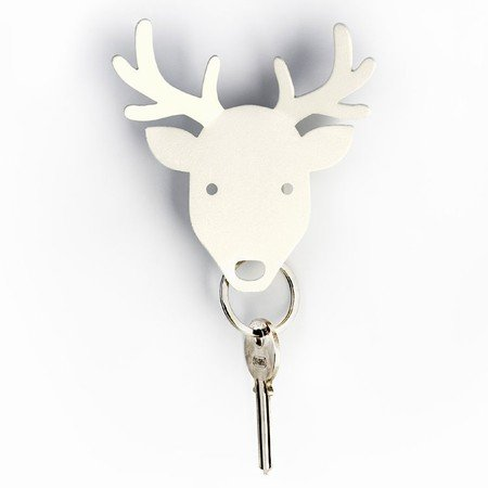 Qualy n�gleholder - hvid deer