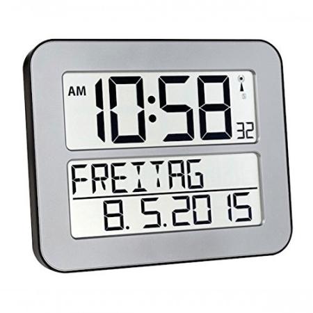 digitalt ur med tekst