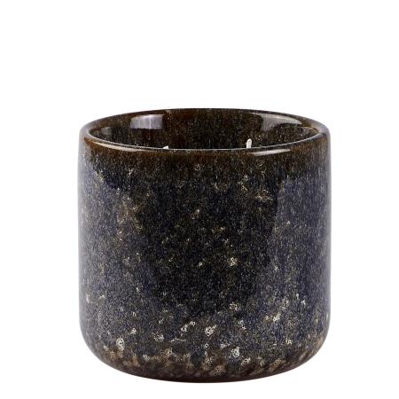Duftlys - blå keramik potte