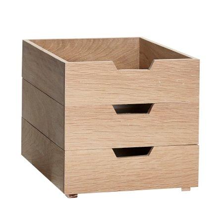 Opbevarings kasser A4 i egetræ
