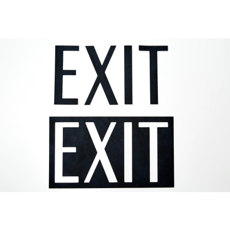 Sign i sort læder - EXIT
