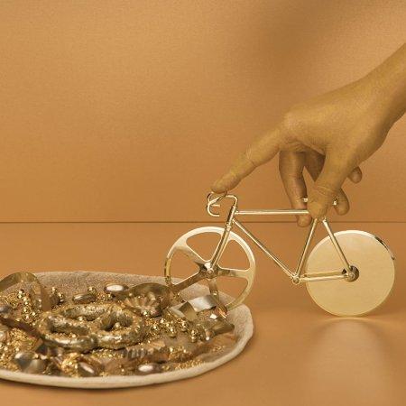 Cykel pizzaskærer - guld look