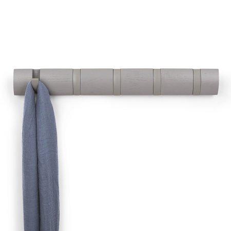 Flip knagerække - grå 5 knager