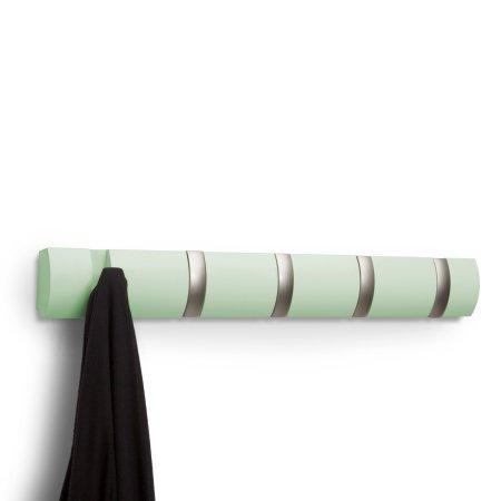 Flip knagerække - mint og stål