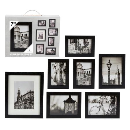 Fotoramme sæt med 7 rammer