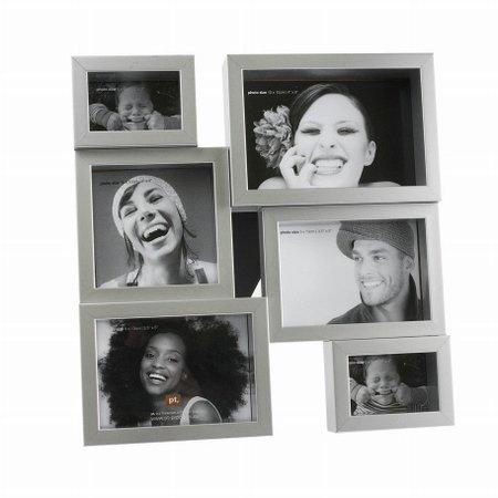 Fotoramme til 6 billeder - st�l farvet