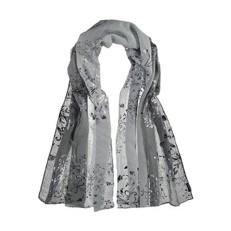 Grå tørklæde - silke/bomuld