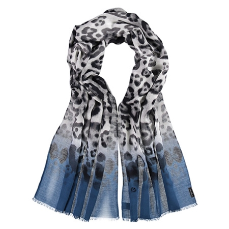 Blå tørklæde - dyreprint