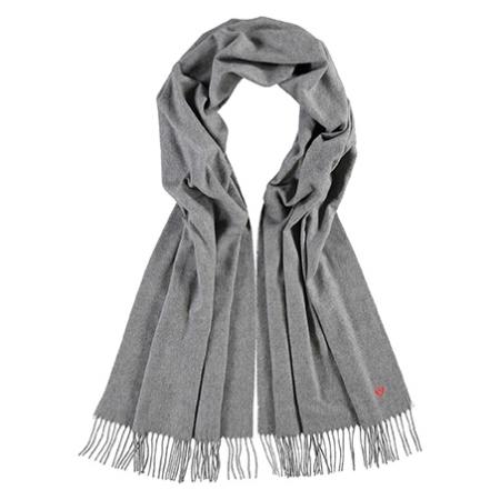 Lysegrå tørklæde