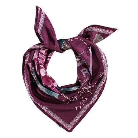 Silke tørklæde - bordeaux