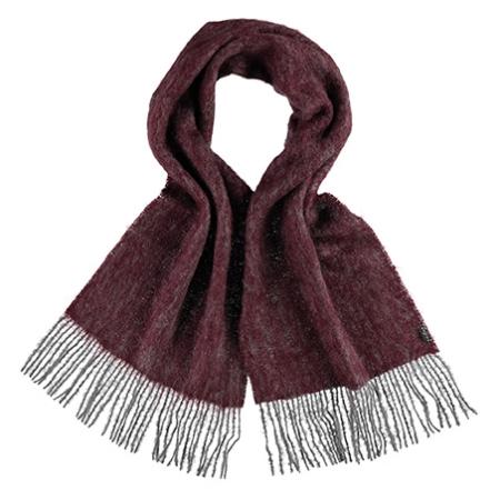Bordeaux tørklæde i uld