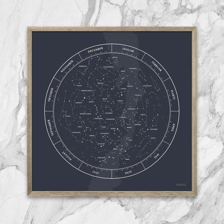 Gehalt plakat Stjernebilleder - mørkblå