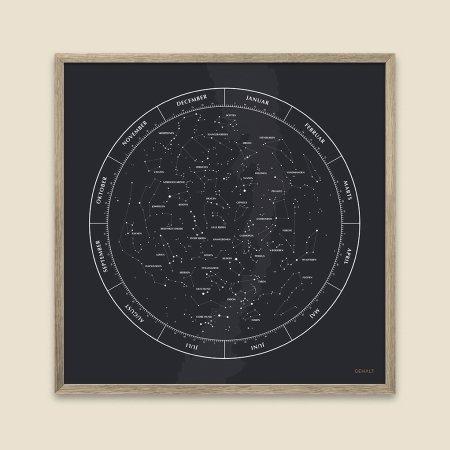 Gehalt plakat Stjernebilleder - sort