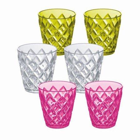 Koziol plastik glas - s�t med 6 stk.