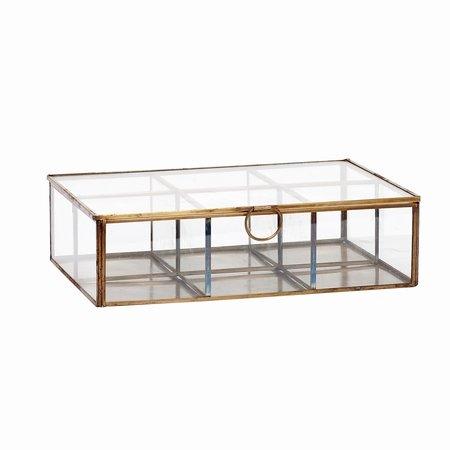 Glasskrin med rum - smykkeskrin