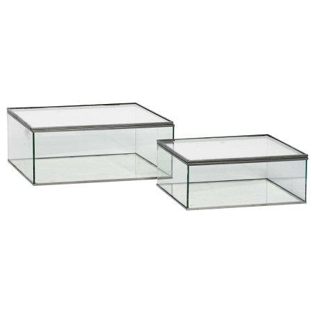Glas bokse med låg - 2 stk.