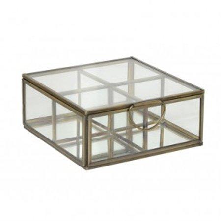 Glasskrin med 4 rum