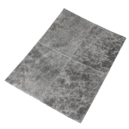 Dækkeserviet vintage læder - grå