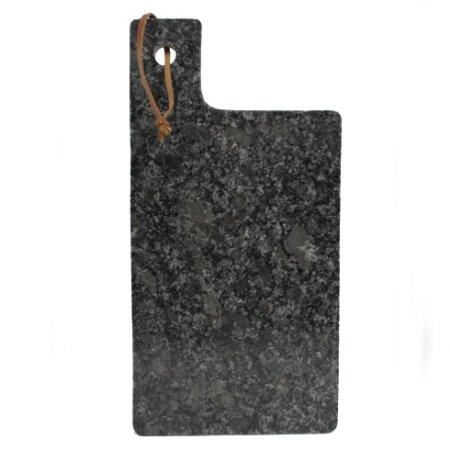 Skærebræt i granit 15x30 - mørk grå