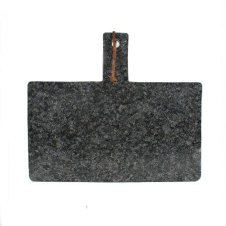 Skærebræt i granit - mørk grå