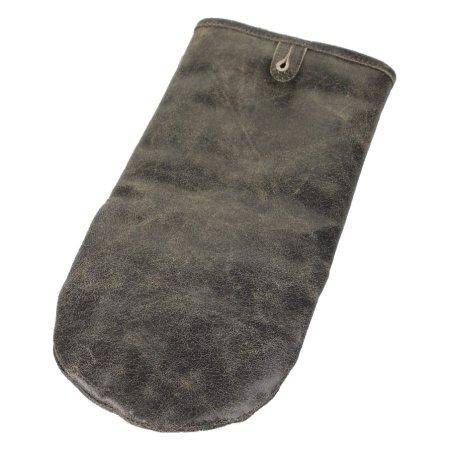 Grill handske i læder - sort