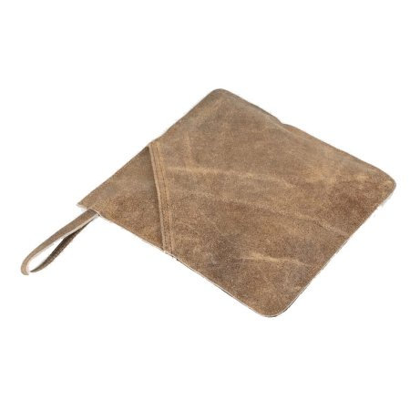 Grydelap i læder - brun