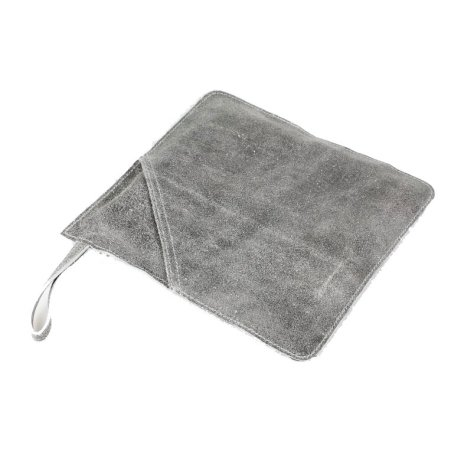 Grydelap i læder - grå