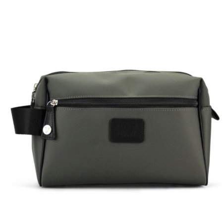 Herretoilet taske i grå/army grøn