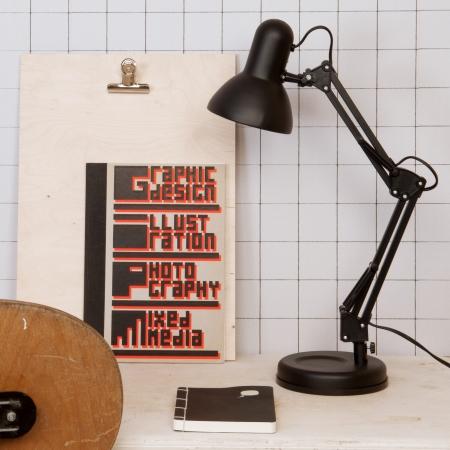 Hobby bord lampe - sort