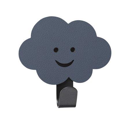 Børne knage i læder - blå sky