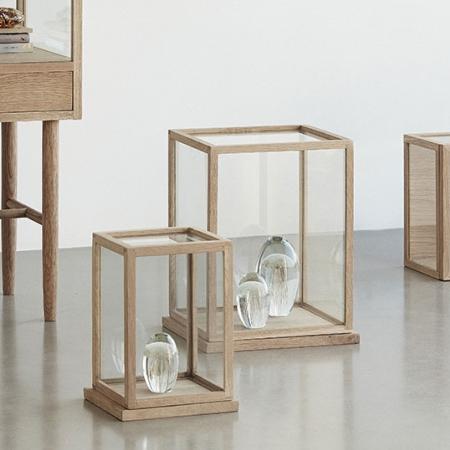 Glas montre i træ - 2 stk.