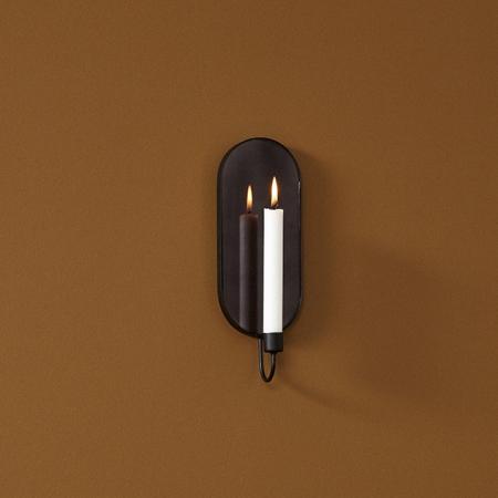 Sort lysestage til væg