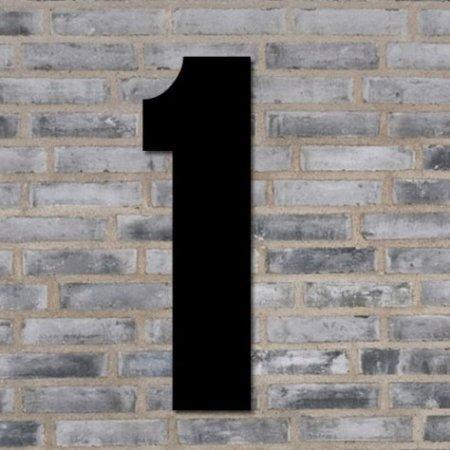 Sort husnummer 70 cm - 1