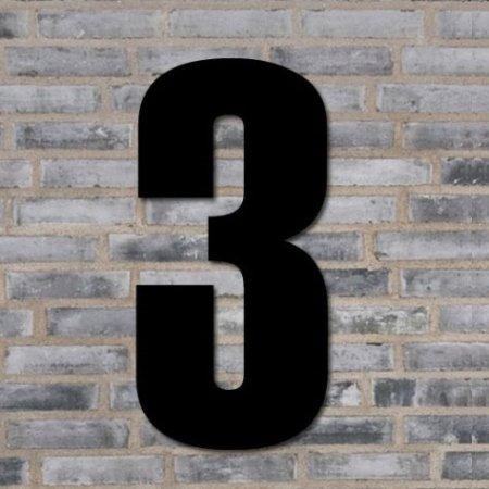 Sort husnummer 70 cm - 3