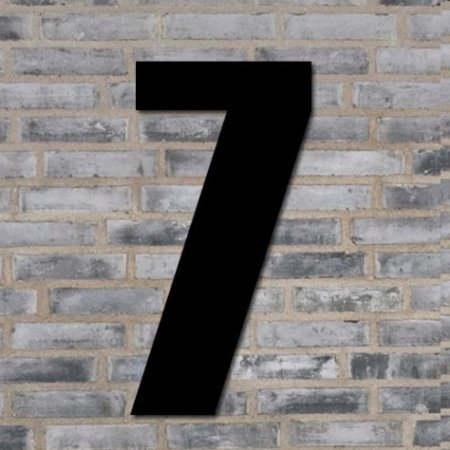 Sort husnummer 70 cm - 7