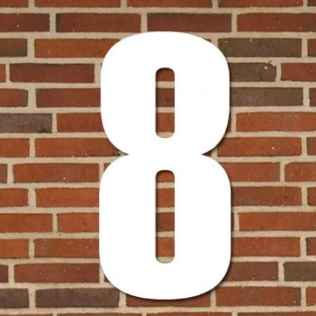 Hvidt husnummer 70 cm - 8
