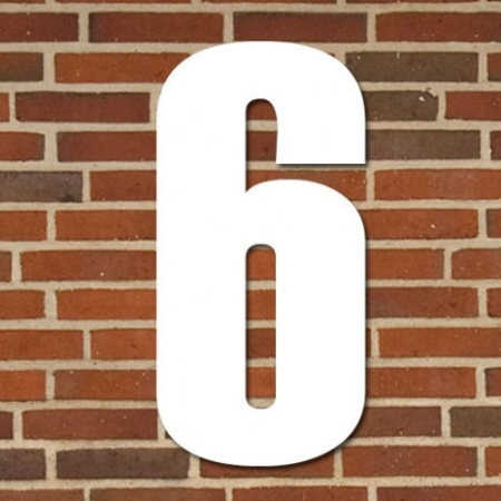 Hvidt husnummer 40 cm - 6