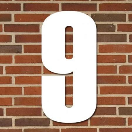 Hvidt husnummer 40 cm - 9