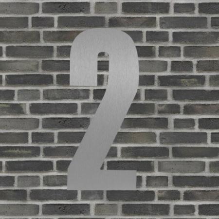 Sølv husnummer 40 cm - 2