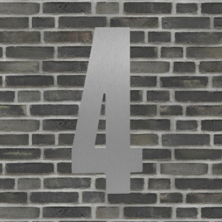 Sølv husnummer 40 cm - 4