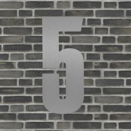 Sølv husnummer 40 cm - 5
