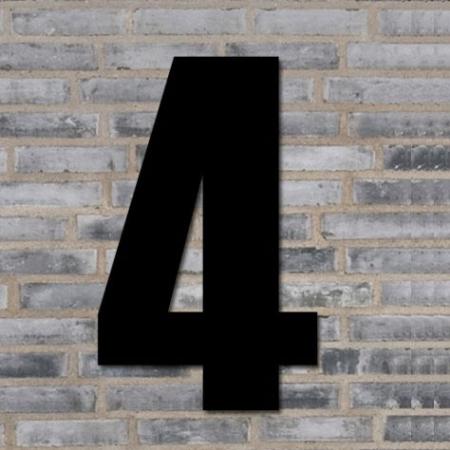 Sort husnummer 40 cm - 4