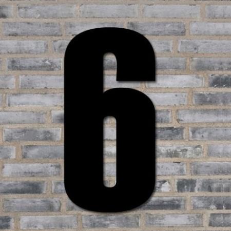 Sort husnummer 40 cm - 6