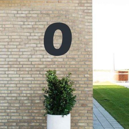 Sort husnummer 0 - 40 cm
