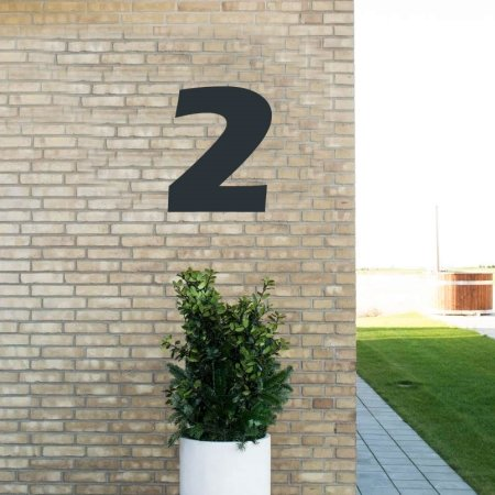 Sort husnummer 2 - 40 cm
