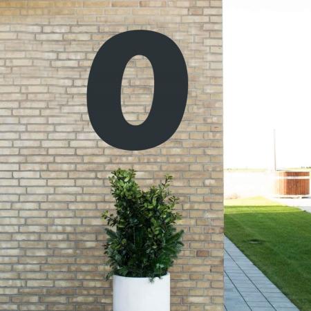 Sort husnummer 0 - 80 cm