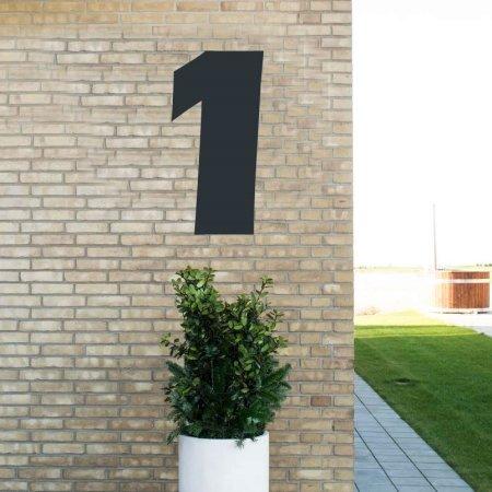 Sort husnummer 1 - 80 cm